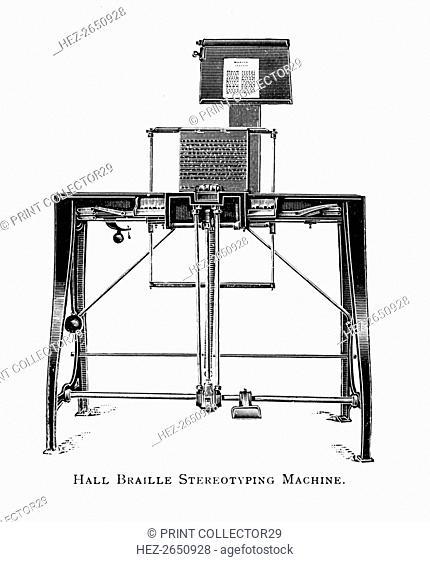'Hall Braille Stereotyping Machine', 1919. Artist: Unknown