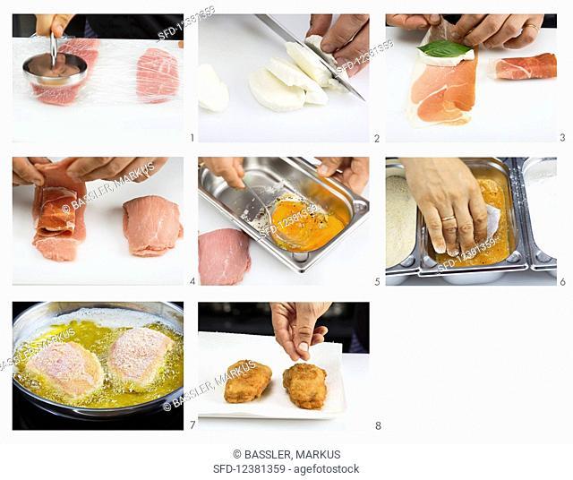 How to make cordon bleu with mozzarella and Parma ham
