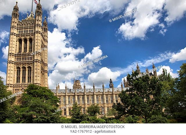 Houses of parliament and Victoria Tower - London UK