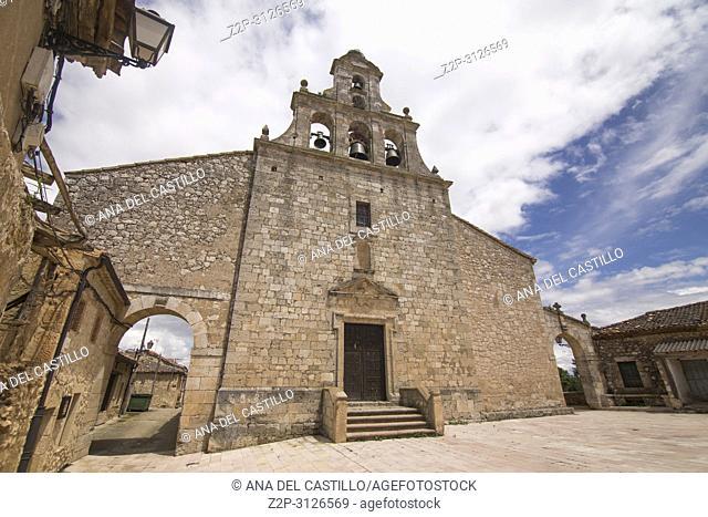 Maderuelo is an ancient village in Segovia province Castile Leon Spain. St Maria del Castillo church