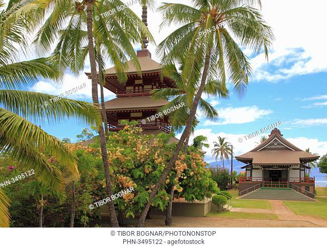 Hawaii, Maui, Lahaina, Jodo Mission, Japanese buddhist temple