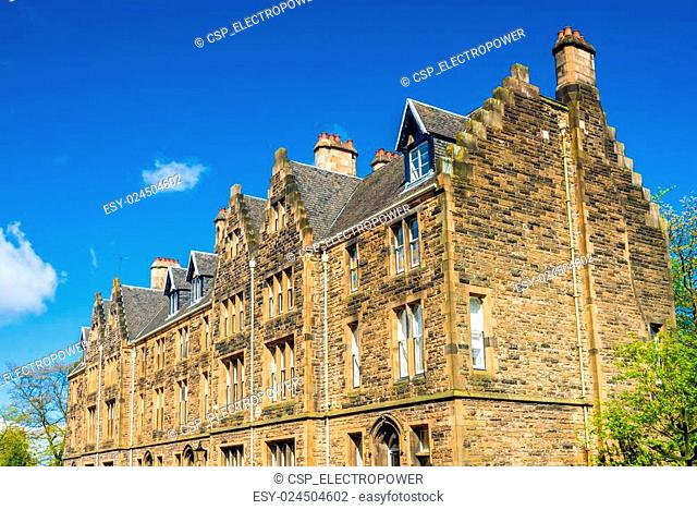The Square building of the University of Glasgow - Scotland