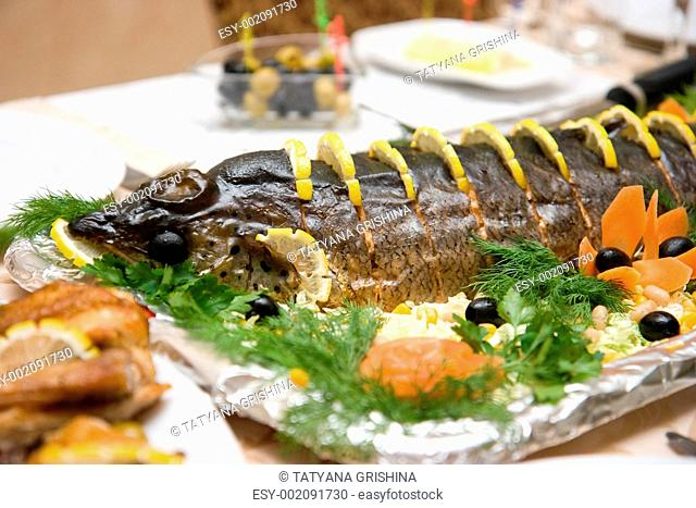 fish on a celebratory table