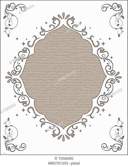 Gray diamond wedding invitation card