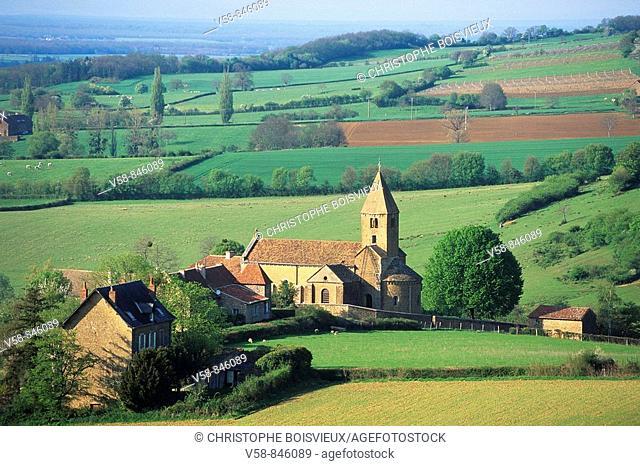 Eglise Romane, La Chapelle sous Brancion, Saone et Loire, France