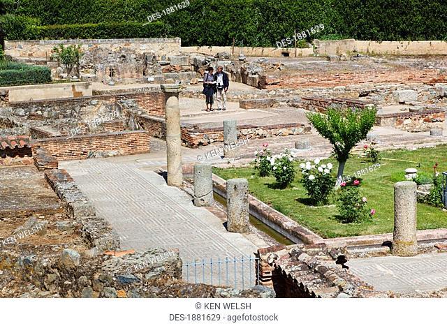 roman villa known as house of the amphitheatre, merida, badajoz province, spain