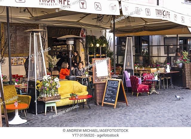 Colourful restaurant at Campo de Fiori square, Rome, Italy