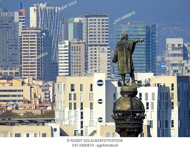 Columbus monument. Barcelona, Catalonia, Spain