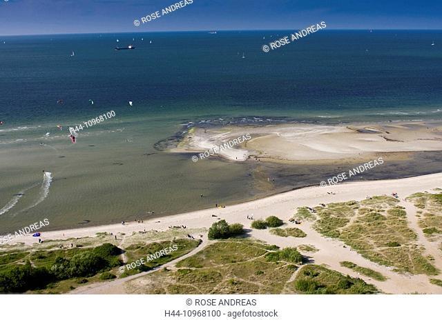 View, look, federal republic, Germany, Europe, Förde, body of water, Holstein, coast, Kiel, Laboe, North Germany, Baltic Sea, Baltic coast, sand beach