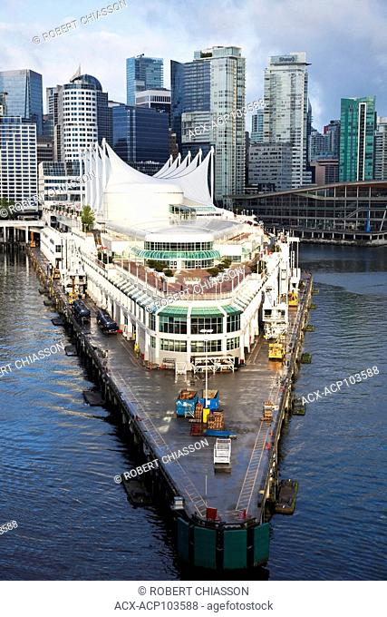 Port of Vancouver's cruise ship terminal at Canada Place in downtown Vancouver, British Columbia, Canada