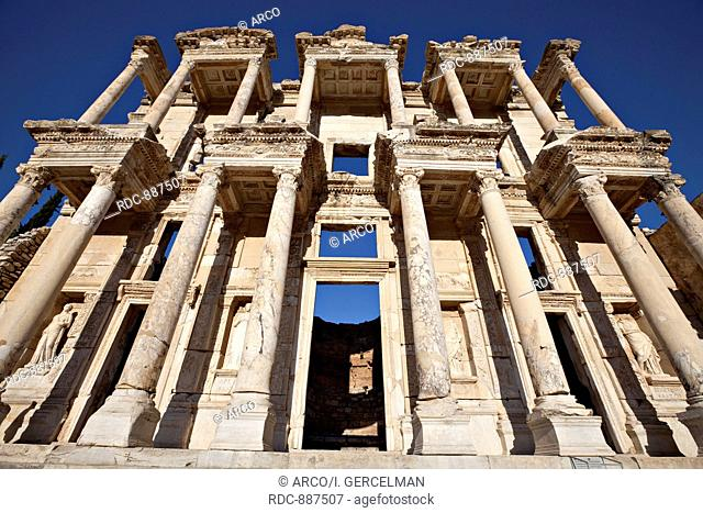 The Library of Celsus is an ancient building in Ephesus, Izmir, Turkey