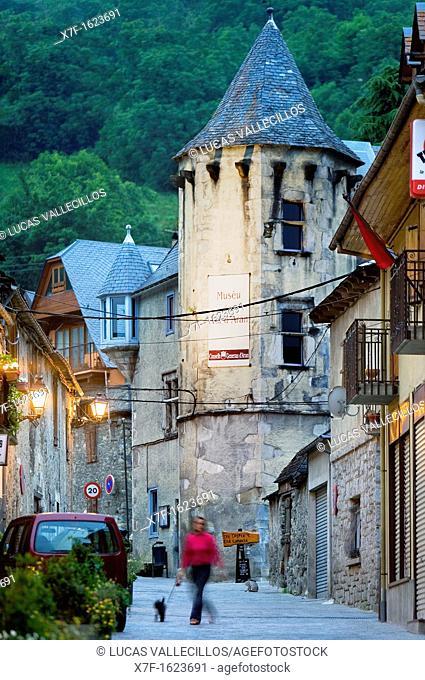 Vielha  Tower of `General Martinhon',Aran Valley,Pyrenees, Lleida province, Catalonia, Spain