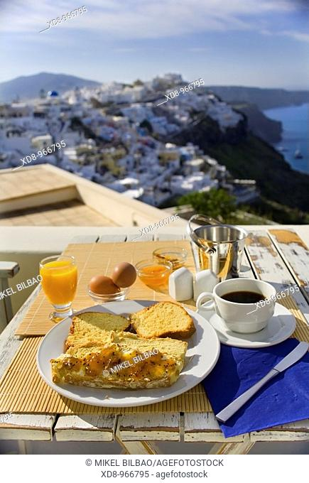 Firostefani. Santorini island, Cyclades islands, Aegean Sea, Greece, Europe