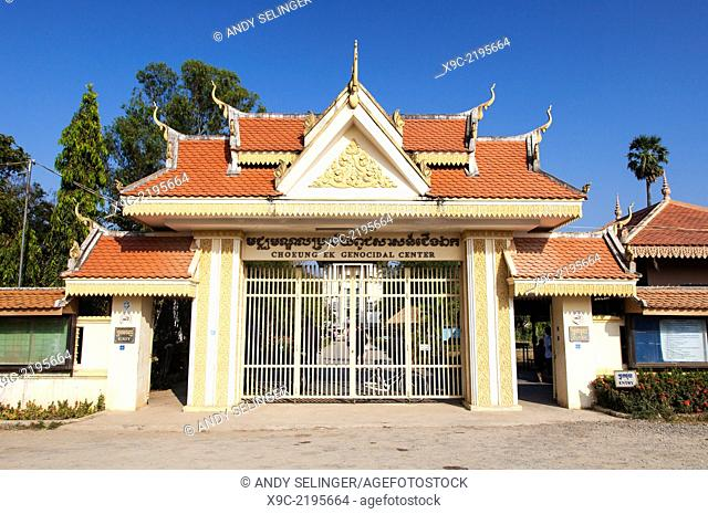 Entrance of the Killing Fields ( Choeung Ek ) Memorial Site in Phnom Penh, Cambodia