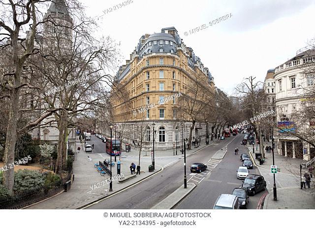 Corinthia Hotel on Corner of Northumberland Ave and Whitehall Place - London UK