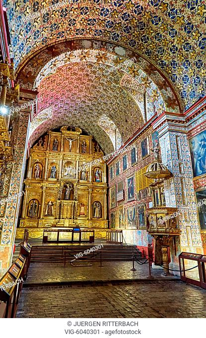 Museo Santa Clara, decorated church and convent, Bogota, Colombia, South America - Bogota, Colombia, 18/08/2017