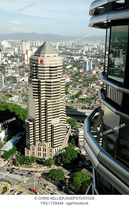 Headquarters of Public Bank Berhad from Petronas Towers Building KLCC Kuala Lumpur City Centre Malaysia