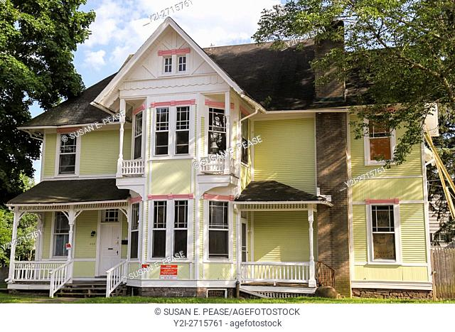 A Victorian building in White Haven, Pennsylvania, United States, North America