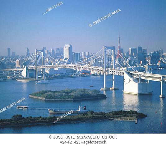 Rainbow Bridge. Tokyo. Japan