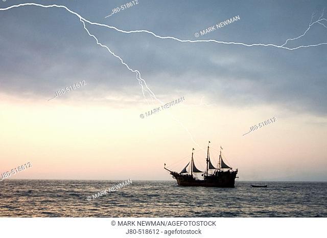 Tourist ship. Puerto Vallarta. Mexico