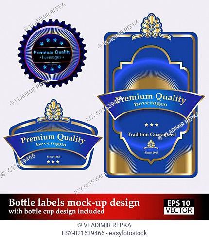 Bottle labels mock-up design