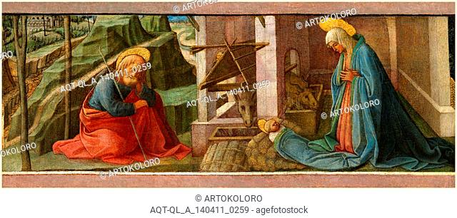 Fra Filippo Lippi and Workshop, Italian (c. 1406-1469), The Nativity, probably c. 1445, oil and tempera (?) on panel