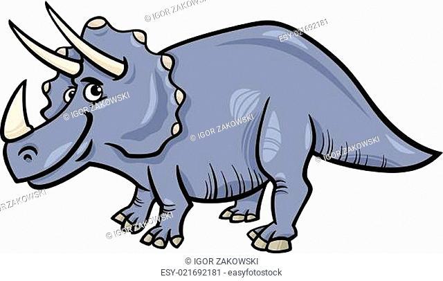 triceratops dinosaur cartoon illustration