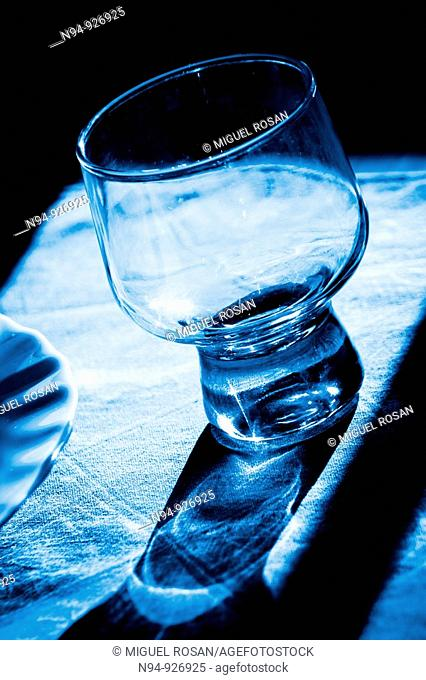 Empty cocktail glass, ready to fill and serve