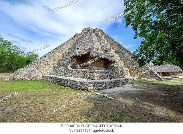 Archeological mayan site of Mayapan, Yucatan (Mexico)