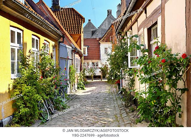 Old town in Helsingor, Denmark