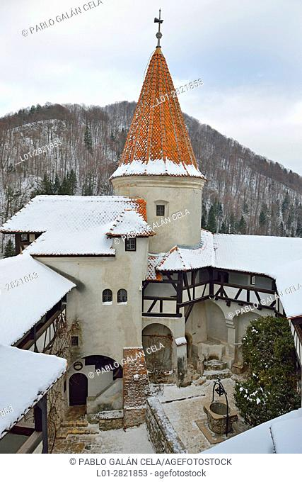 Bran Castle, courtyard. Romania