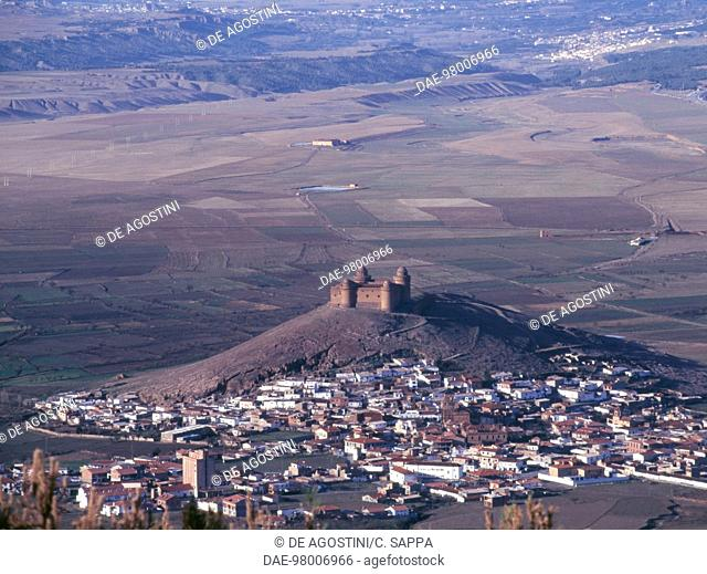 View of La Calahorra, with the castle in the centre, 1509-1512, Andalusia, Spain
