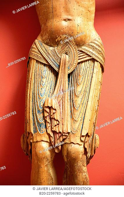 Christ de Crucifixion. Auvergne, 1200. Musee du Moyen-Age Middle Ages Museum, the former Hotel de Cluny. Musée de Cluny. Paris. France