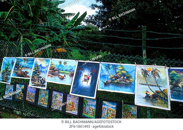 Malaysia Kuala Lumpur color artwork sell market