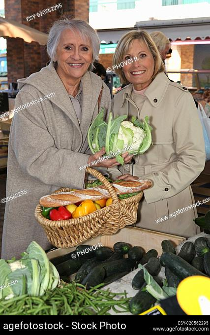 senior ladies at market
