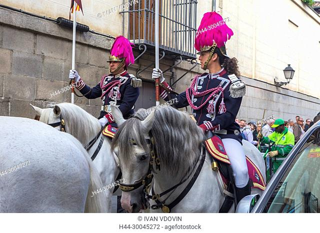 Religious procession for Festival of San Isidro, May 15, Madrid, Spain