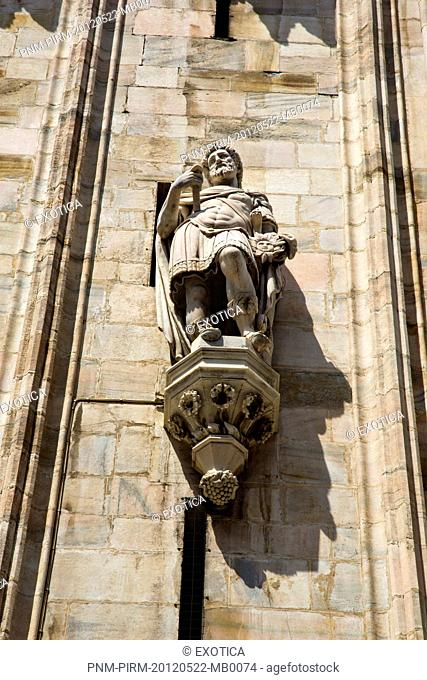 Architectural detail of the Duomo Di Milano, Milan, Lombardy, Italy