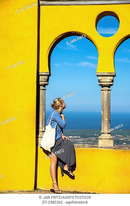 young lady at sintra portugal