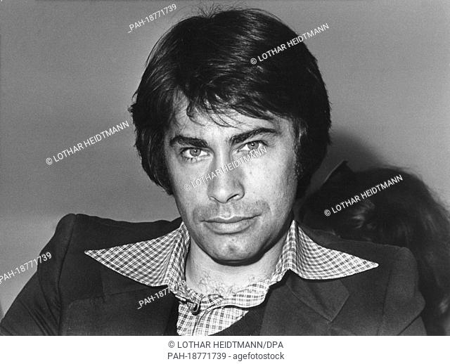 German pop singer Roy Black on 29th April 1975 in Hamburg. The singer has tried to start a new career as theater actor and was performing in the theater play...