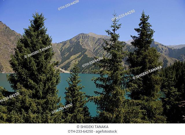 Tianshan and Lake of Heaven (Tianchi), Urumqi, Xinjiang, Silkroad, China