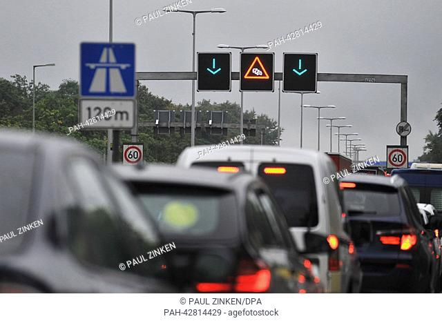 Traffic jam accident autobahn Stock Photos and Images | age