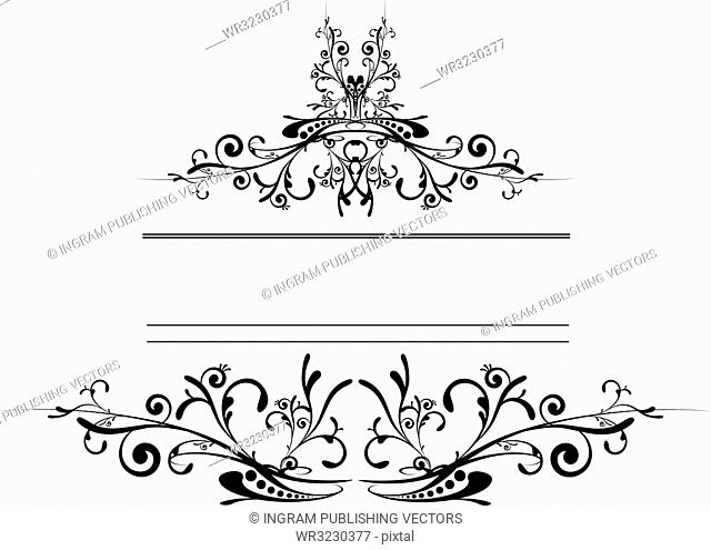 floral inspired tattoo style logo in black and white