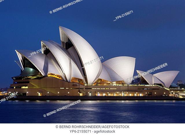 Sydney Opera House at night, Sydney, New South Wales, Australia