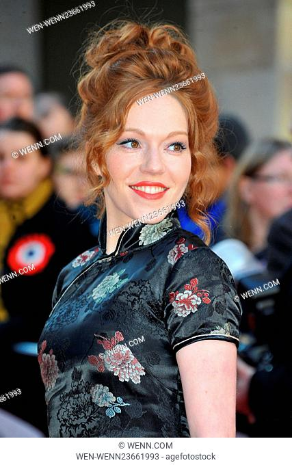 Jameson Empire Awards 2016 at the Grosvenor House in London, England Featuring: Charlotte Spencer Where: London, United Kingdom When: 20 Mar 2016 Credit: WENN