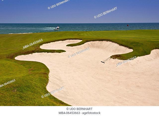Arabia, Arabian peninsula, Sultanate of Oman, Muscat, tourism project 'The Wave', golf centre