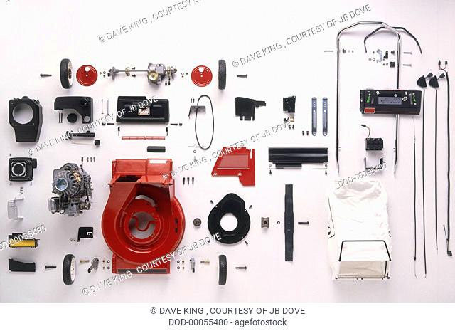 Component parts of lawn mower