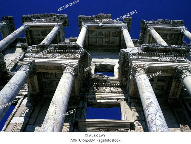 Library of Celsus at Ephesus, Low Angle View