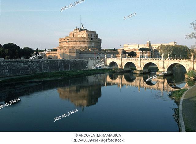 Castello di Angelo bridge Ponte San Angelo Rome Italy