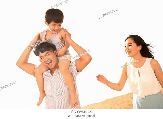 Happiness of a family of three