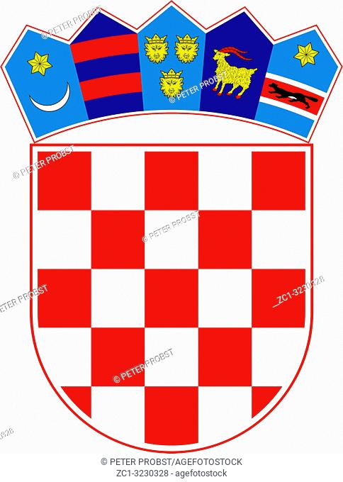 National coat of arms of the Republic of Croatia